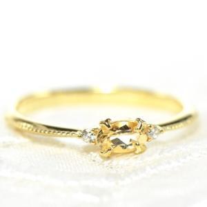 【素材/サイズ】 ◆主石名:インペリアルトパーズ ◆脇石名:ダイヤモンド(約1.5mm×2石 0.0...