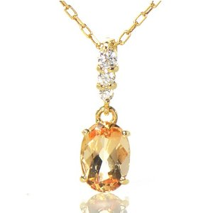 【素材/サイズ】 ◆主石名:インペリアルトパーズ ◆脇石名:ダイヤモンド(3石約0.04cts) ◆...