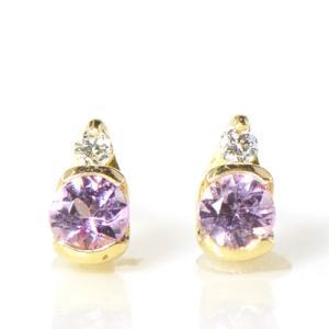 【素材/サイズ】 ◆主石名:ピンクインペリアルトパーズ ◆脇石名:ダイヤモンド(約0.02cts ペ...