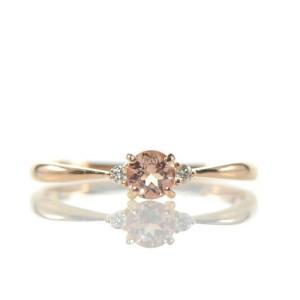 【素材/サイズ】 ◆主石名:インペリアルトパーズ ◆脇石名:ダイヤモンド(約0.03cts) ◆主石...