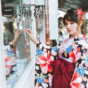 選べる 二尺袖着物 3点セット 袴セット 着物セット 袴下帯 自分好みにコーディネート可能 追加オプションあり