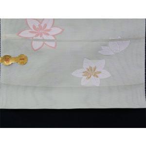 西陣織 夏物名古屋帯 錦和 五越絽 インド菱紋|kyo-obi-nishijinya|04