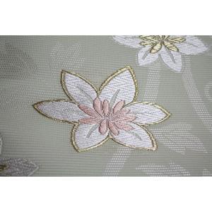 西陣織 夏物名古屋帯 錦和 五越絽 インド菱紋|kyo-obi-nishijinya|05