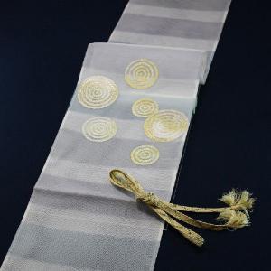 西陣織 夏物袋帯 泰生織物 唐縫紗 うず紋|kyo-obi-nishijinya