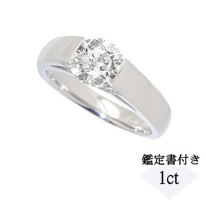 1カラットUPの一粒ダイヤモンドが際立つ存在感のリングです。サイドからもダイヤモンドの煌めきをご覧い...