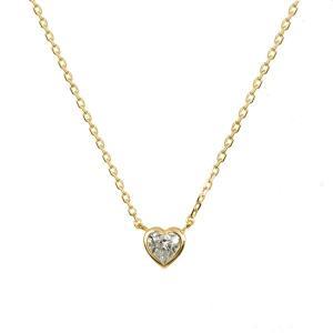 ハートシェイプカットダイヤモンドを、イエローゴールドで取り囲むフクリン留にて仕上げました。可愛らしい...