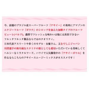 アサイー スムージー(ガラナ入り) 100g×40袋 フルッタ 冷凍 アサイーピューレ|kyodai|10