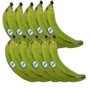 【送料無料】グリーンバナナ (プラタノ) エクアドル産 10本セット (1本あたり250〜350g) platano