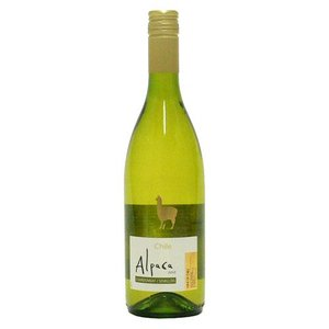 チリ産 白ワイン 『アルパカ』 シャルドネ/セミヨン サンタヘレナ 750ml|kyodai