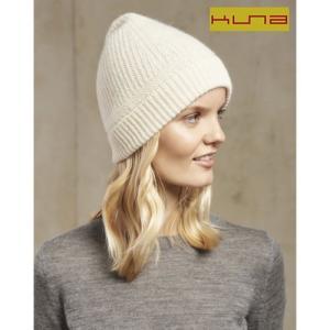 KUNA ベビーアルパカ ニット帽 SILEX オフホワイト(エクリュー)