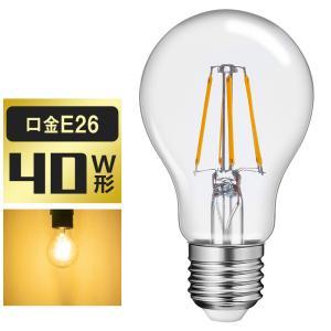 LED電球 E26 40W形相当 フィラメント型 クリアタイプ 電球色 2700K 一般電球 5W PS60 led LEDクリア電球 クリヤーランプ ハロゲン色|kyodo-store