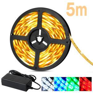 LED テープライト3528 5m 100V  LEDテープ  電球色 昼光色 白 赤 緑 青 イルミネーション 間接照明 LED|kyodo-store