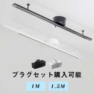 ダクトレール 配線ダクトレール 1m/1.5m ライティングレール 簡易取付式 ライティングバー シ...