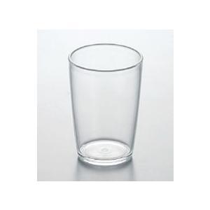 【メタクリル樹脂】8オンスタンブラー スリーライン[252-TW]【透明食器 コップ ガラス調 グラス プラスチック製 業務用 お冷 水】|kyoeinet