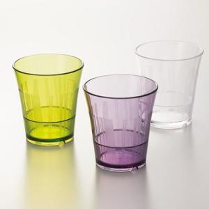 【ポリカーボネート製】ルピア タンブラー(80×87)220cc 3色から選択 スリーライン[TC-80]【食器 コップ プラスチック製 ガラス調 透明 グラス 業務用】|kyoeinet