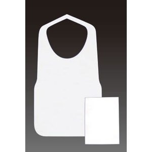 送料無料! エプロン 使い捨て前掛け フジ 不織布 エプロンF型中 白 6ツ折 390×720mm 1,000枚入|kyoeinet