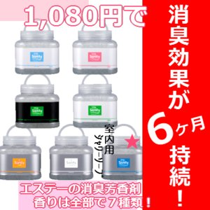 最長6ヵ月持続! エステー Sanity(サニティ)業務用消臭剤芳香剤 大型タイプR 1.7kg 室内用 シャワーソープ|kyoeinet