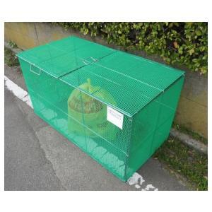 送料無料 折畳み式ゴミ収納枠 1800タイプ(家庭ゴミ用 11〜16世帯分)持ち運びラクラクの折りたたみタイプ 安藤鋼機(株)製|kyoeinet|04