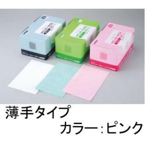 清掃用品・台ふきん クレシア 抗菌カウンタークロス 薄手 ピンク(100枚入)(EBM18-1)(2095-27)|kyoeinet