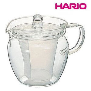 急須|ポット|お茶用品 耐熱ガラス製|透明|茶こし付 HARIOハリオ 茶ポット 茶茶・なつめ CHRN-2N 2杯用360ml(EBM18-1)(1077-02)|kyoeinet