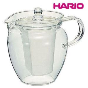 急須|ポット|お茶用品 耐熱ガラス製|透明|茶こし付 HARIOハリオ 茶ポット 茶茶・なつめ CHRN-4N 4杯用700ml(EBM18-1)(1077-02)|kyoeinet