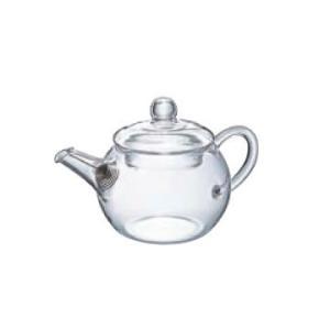 卓上用品 ティー・お茶・紅茶用品 ポット 耐熱ガラス製 HARIOハリオ アジアン急須丸型 QSM-1(EBM18-1)(1077-06)|kyoeinet