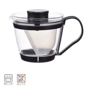卓上用品 ティー・お茶・紅茶用品 ポット 耐熱ガラス製 waki(イワキ) レンジのポット茶器 KT863-BK 400ml(EBM18-1)(1078-17)|kyoeinet