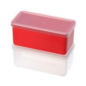 保存容器 下ごしらえや冷凍保存にも大活躍!2個セット プチキューブストッカー2pc レッド/PC-399(EBM18-1)(538-16)|kyoeinet