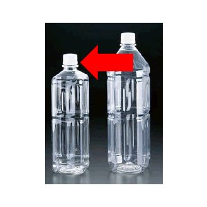 保存容器 キッチンポット・プラスチック製 空ペットボトル PET食品ボトル角ミネラルシリーズ ミネラル1L角 (75×75×H258mm)1075ml(6-0234-1401)|kyoeinet