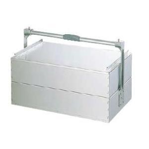 アルミ 関西式出前箱 二段式 小 440×240×1段H115mm (7-0377-1304)|kyoeinet