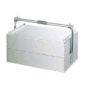 アルミ 関西式出前箱 二段式 特大 560×330×1段H125mm (7-0377-1301)|kyoeinet