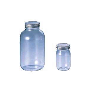 保存容器 キッチンポット・ガラス製容器 18-0ステンレス キャップ ガラス保存びん 228113 (Ф94×H183mm)900c.c (6-0231-0502)|kyoeinet