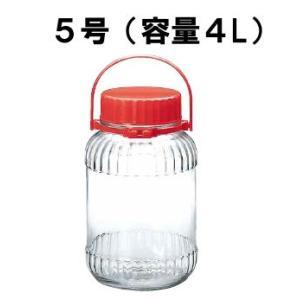 【保存容器】【キッチンポット・ガラス製容器】【ご自宅で果実酒作りが出来ます!】ガラス 果実酒びん I-71804 5号(170×280mm) 4L (6-0232-1201)|kyoeinet