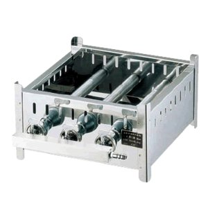 ステンレス製 18-0業務用角蒸器専用ガス台(ジェットバーナー使用)30cm用※12・13A (7-0385-0402)|kyoeinet