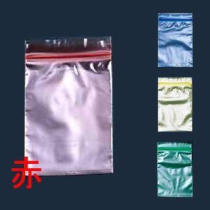 検食袋や食品保存に! ユニパック カラー 半透明 (チャック付ポリ袋) E-4 200枚入 赤◆100×140mm(8-1490-0309)|kyoeinet