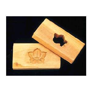 【和菓子用品・型】【お菓子作り・道具】【職人が一つ一つ丁寧に仕上げた手彫物相型】 1ツ取り(桜材) 桔梗 (6-1041-3501)|kyoeinet