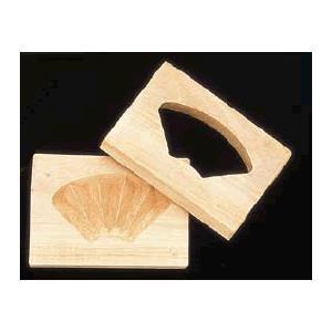 【送料無料】【和菓子用品・型】【お菓子作り・道具】【職人が一つ一つ丁寧に仕上げた手彫物相型】 1ツ取り(桜材) 扇 (6-1041-3401)|kyoeinet