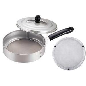 【本格派焙煎器!時間が短く、手軽に焙煎できます♪】手煎り焙煎器 (煎り網) 丸型 (φ208×H98、全長360) (6-0471-0101)|kyoeinet
