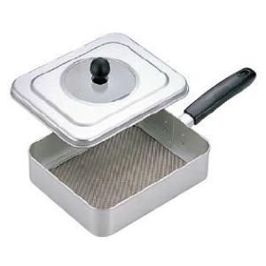 【本格派焙煎器!時間が短く、手軽に焙煎できます♪】手煎り焙煎器(煎り網) 角型 (218×180×H98) (6-0471-0201)|kyoeinet