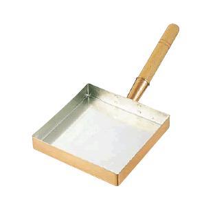 たまご焼器 銅 玉子焼 関東型 21cm (210×210×36mm) (6-0488-0103)|kyoeinet