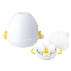 ゆで玉子メーカー 卵と水を入れて電子レンジで加熱するだけで、ゆでたまごができる! レンジでらくチン!ゆでたまご4個用 RE-279 (6-0226-0701)|kyoeinet