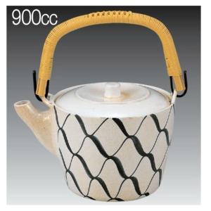 900ml プラスチック製 どびん(急須) 加賀土瓶 大 網目 茶こしセット(3-1489-8)食洗機使用可能(食洗機対応) 割れにくい 急須 耐熱ABS製|kyoeinet