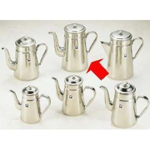 コーヒーポット  18-8ステンレス製 コーヒーポット ♯18ツル首 電磁調理器用 4,000cc (7-0854-0201)|kyoeinet