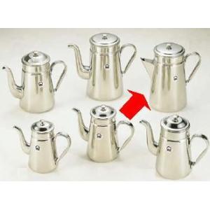 コーヒーポット 18-8ステンレス製 コーヒーポット ♯18三角口 電磁調理器用 4,000cc (7-0854-0301)|kyoeinet