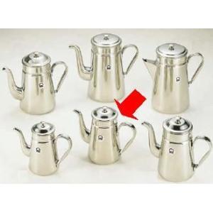 コーヒーポット 18-8ステンレス製 コーヒーポット ♯13 電磁調理器用 1,500cc (7-0854-0501)|kyoeinet