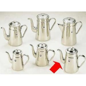コーヒーポット 18-8ステンレス製 コーヒーポット ♯15 電磁調理器用 2,200cc (7-0854-0601)|kyoeinet