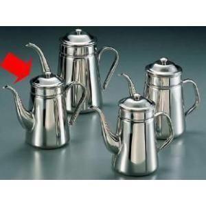 コーヒーポット 18-8ステンレス製 コーヒーポット 細口 ♯13 電磁調理器用 1,500cc (7-0854-1301)|kyoeinet