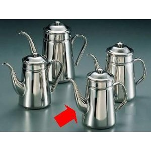 コーヒーポット 18-8ステンレス製 新型ハンドル コーヒーポット 細口 ♯13 電磁調理器用 1,500cc (7-0854-1401)|kyoeinet