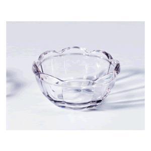 手作りガラスのようなさざ波模様! 関東プラスチック工業 リップル透明食器 花小鉢 クリア KB-125C(90cc)|kyoeinet
