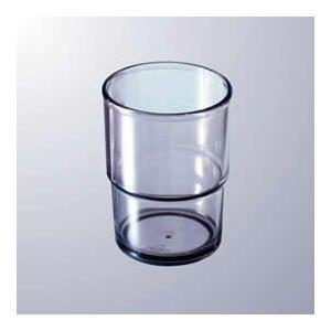 【グラス・タンブラー】【業務用食器】【プラスチック】【病院・給食】定番お冷グラス★【230cc】(マルケイ) AS樹脂 スタッキングタンブラー スモーク [CP9SU]|kyoeinet